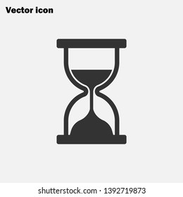 Hourglass icon vector, Time sign