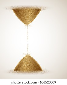 Hourglass or the infinity of time. Eps 10