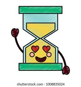 hourglass kawaii icon image