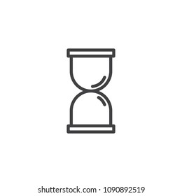 Hourglass outline icon. linear style sign for mobile concept and web design. Sandglass simple line vector icon. Symbol, logo illustration. Pixel perfect vector graphics