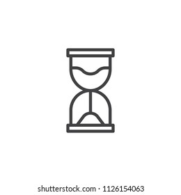 Hourglass outline icon. linear style sign for mobile concept and web design. Sand clock simple line vector icon. Symbol, logo illustration. Pixel perfect vector graphics