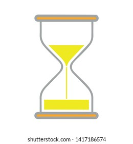 Hourglass, sand, time icon. Vector illustration, flat design