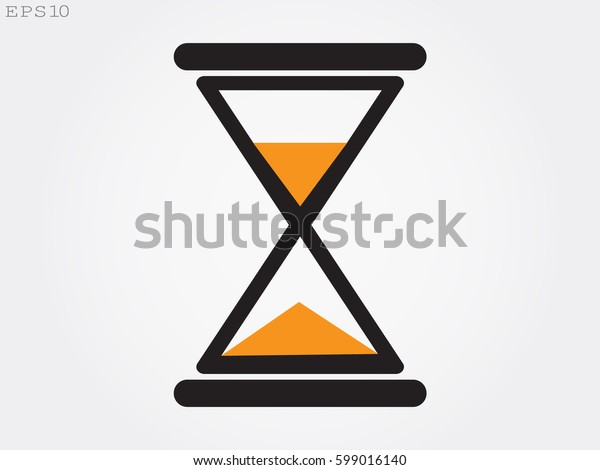 hourglass, time, icon, vector illustration eps10