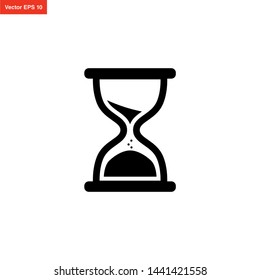 HOURGLASS TIMER ICON VECTOR DESIGN