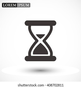 hourglass vector icon 10 EPS