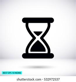 hourglass vector icon 10 EPS