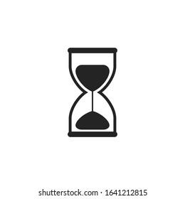 Hourglass vector icon. Vector illustration.