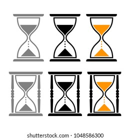 Hourglass vector icons
