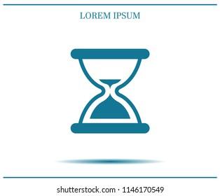 Hourglass, vector illustration.
