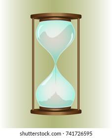 Hourglass Vector image.
