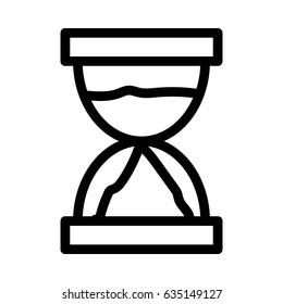Hourglass Vector Line Icon