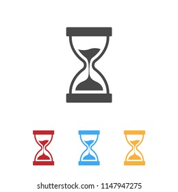 Hourglasses icons set with various color