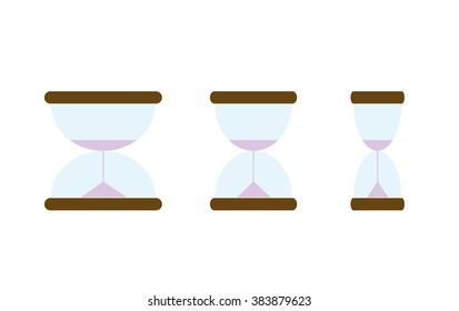 Hourglasses Set Vector