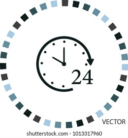 Hours icon, vector design element