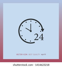 Hours icon, vector design element