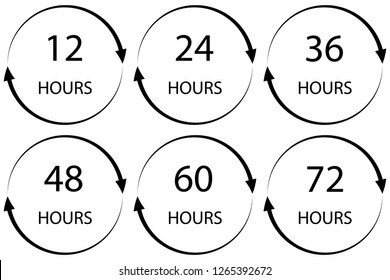 hours on white background. flat style.  hours sign. hours for your web site design, logo, app, UI. hours symbol. - Vector