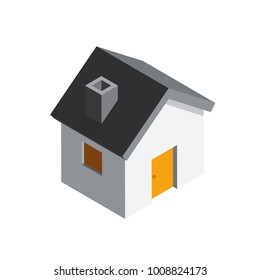 House 3D isometric icon