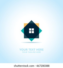 House abstract emblem, design concept, logo, logotype element for template.