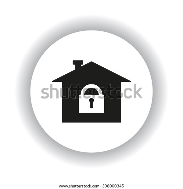 House, access is closed, locked. icon. vector design