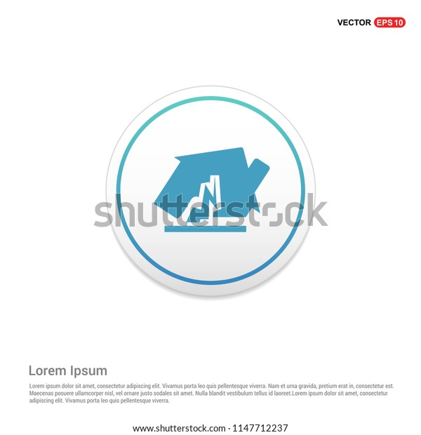 House accident icon Hexa White Background icon template - Free vector icon