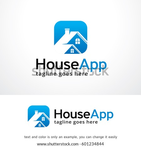 house app logo template design vector stock vector royalty free
