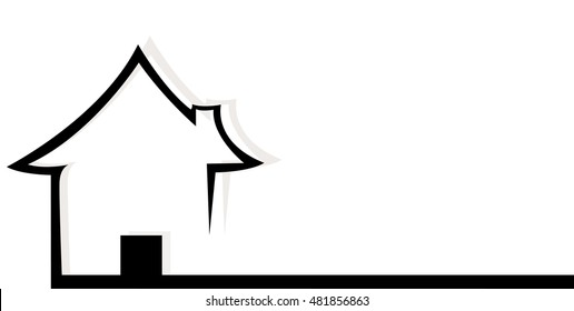 house banner vector , home banner vector