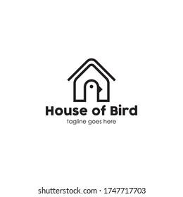 house of bird logo vector illustration