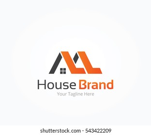 House Building Brand Logo Template
