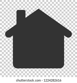 House building icon in flat style. Home apartment vector illustration on isolated background. House dwelling business concept.