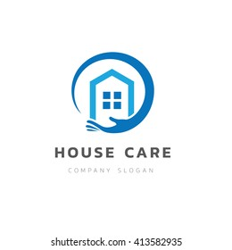 House care logo template.
