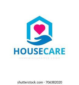 House care logo template