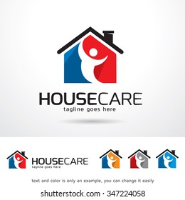 House Care Logo Template Design Vector