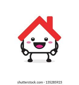 House cartoon character illustration