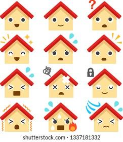 House character illustration set