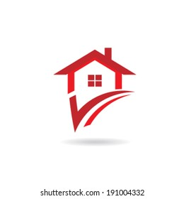 House check. Concept of selected house, choice, my option. Vector image