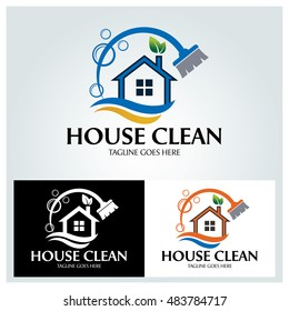 House Clean logo design template ,Vector illustration