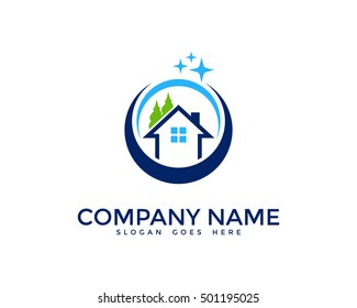 House Cleaning Logo Design Template
