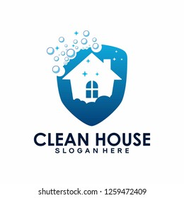 House Cleaning logo designs concept, Cleaning House logo template vector - Vector