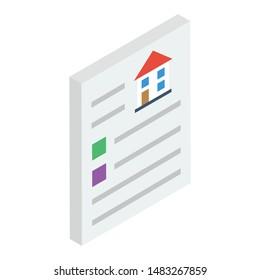 House deed vector in isometric design