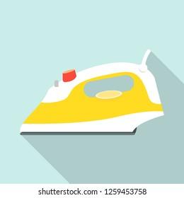 House electric iron icon. Flat illustration of house electric iron vector icon for web design