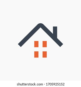 House estate line vector minimalistic icon. Apartment symbol. Household silhouette icon for web design. Modern flat home icon for app design. Building state sign minimal flat linear icons