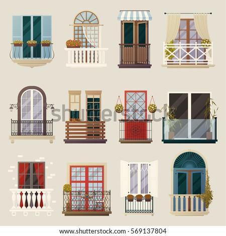 House Exterior Design Ideas Modern Vintage Stock Vector Royalty - Exterior-design-ideas