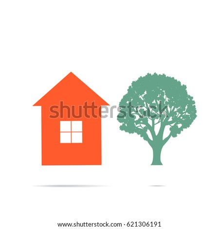 House Flat Icon Design Your Own Stock Vector (Royalty Free ...