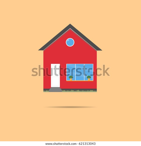 House Flat Icon Design Your Own Stock Image | Download Now