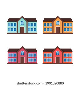 house flat icon for real estate and business presentations