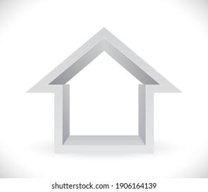 house frame icon 3d vector icon