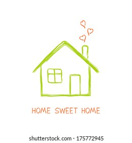 Simple House Drawing Images, Stock Photos & Vectors | Shutterstock