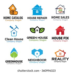 House Green Deal Tools Design Illustration