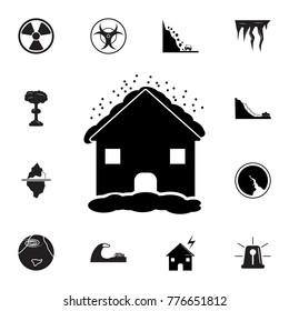 House in hailstorm icon. Set of natural disasters icon. Signs and symbols collection, simple icons for websites, web design, mobile app, info graphics on white background