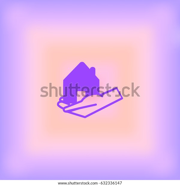 house, hand, icon